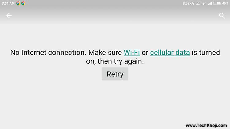 Cara Mengatasi Google Play Store No Connection Mengembalikan