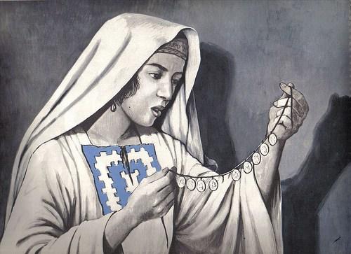 En la parábola, ¿por qué la mujer buscó desesperadamente una simple moneda perdida?