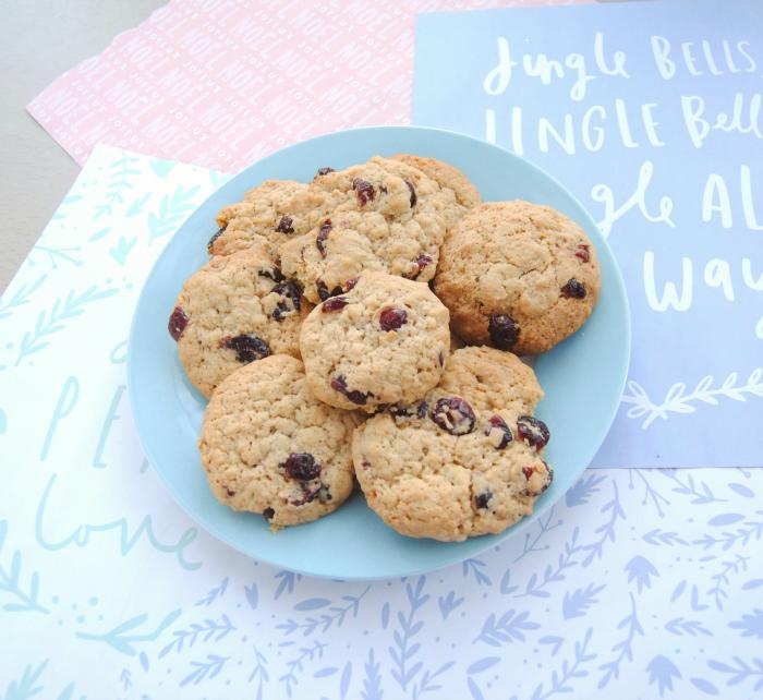 Vegan Oat & Cranberry Sticky Mix Cookies