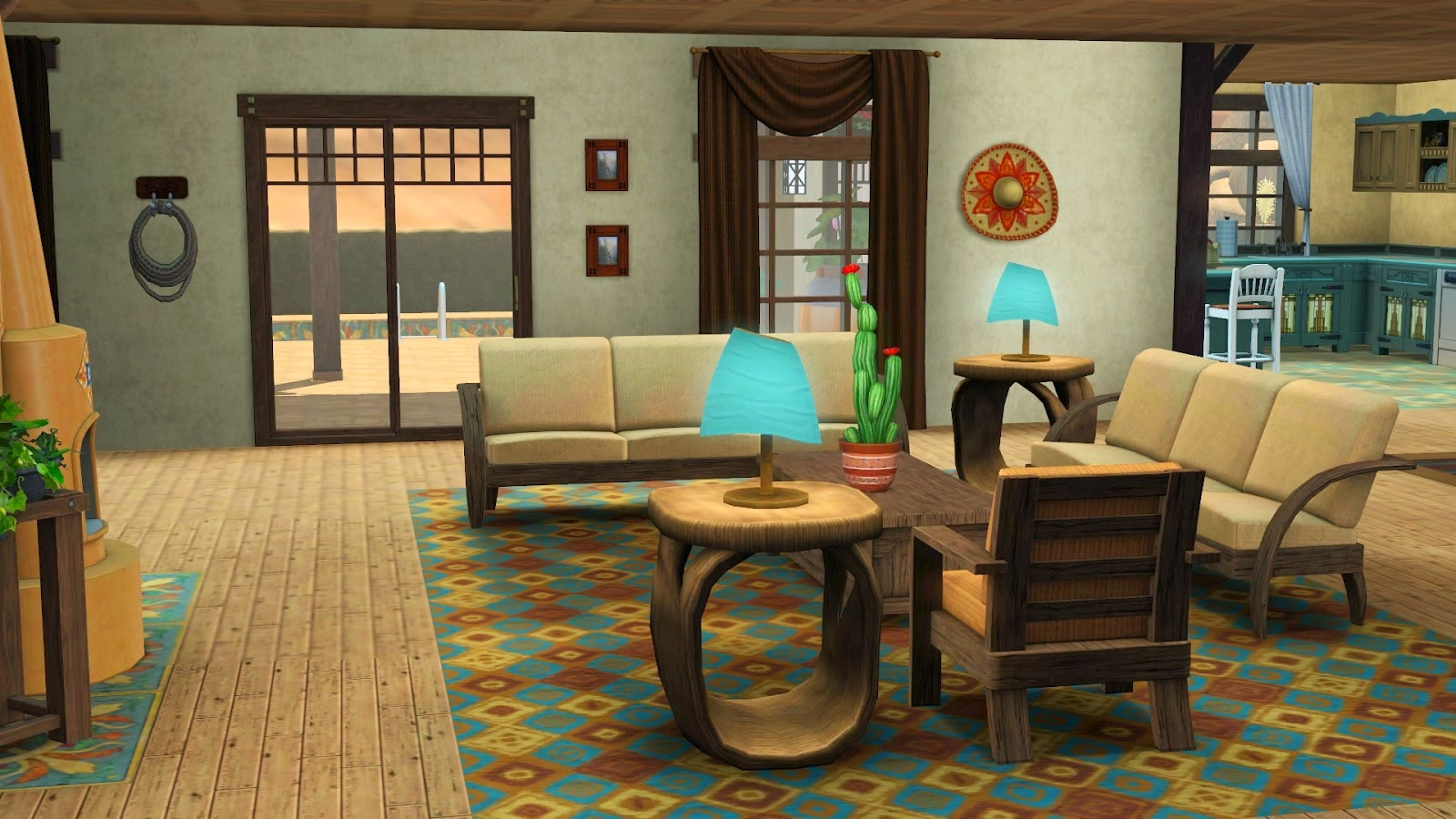 My Sims 3 Blog: Santa Fe Sunrise by Ruth Kay