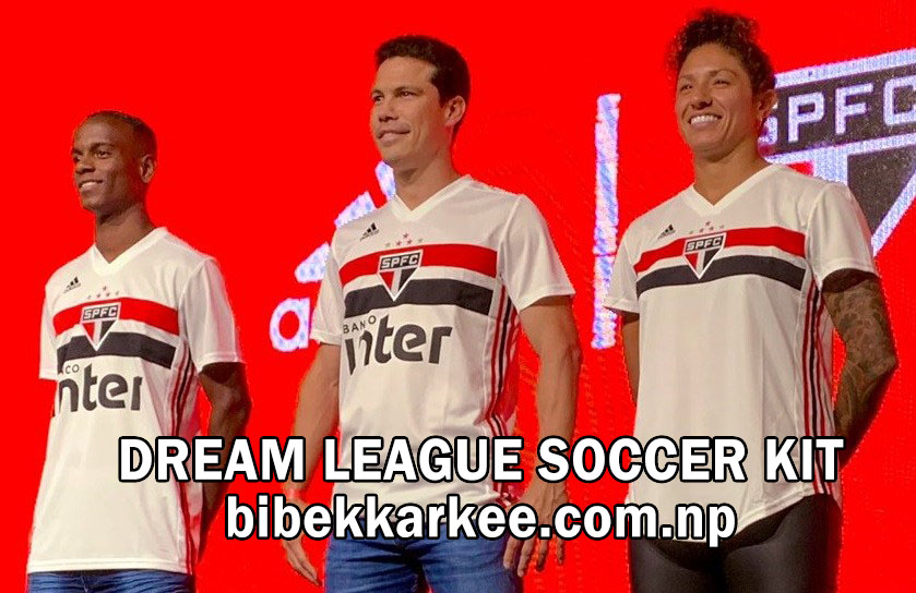 Sao Paulo FC 2019-2020 Dream League Soccer Kit and Logo