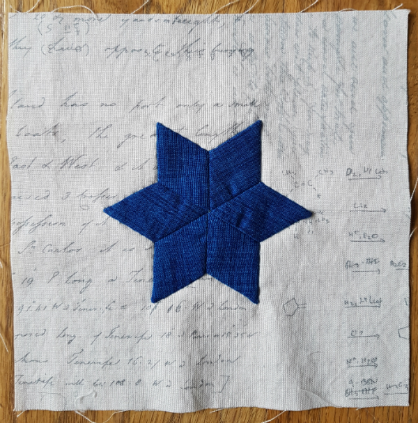 Appliqued EPP stars | DevotedQuilter.blogspot.com