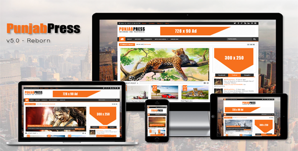 Punjab Press Responsive Blogger Template v5