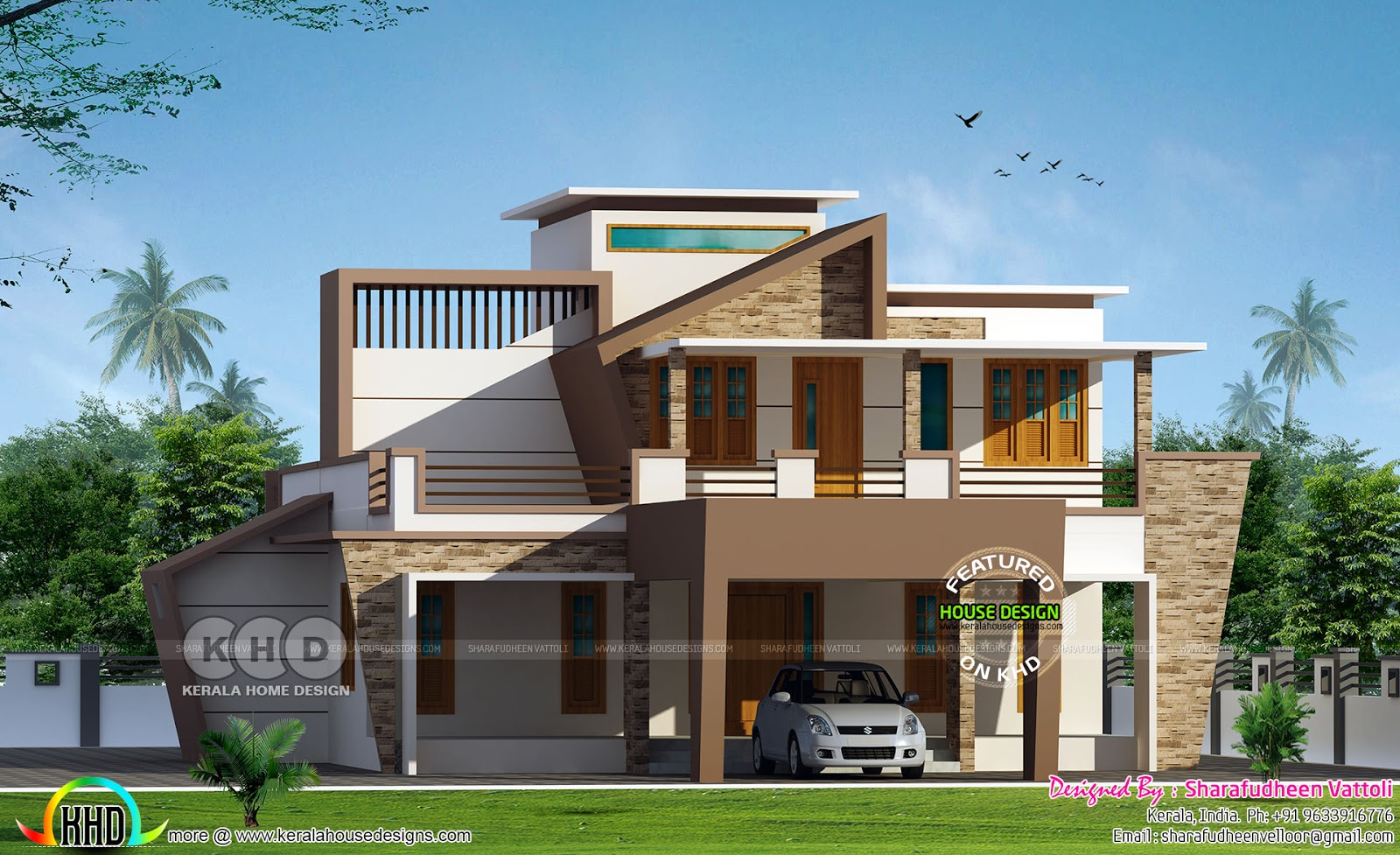Contemporary Outlook For An Old Style Home Kerala Home