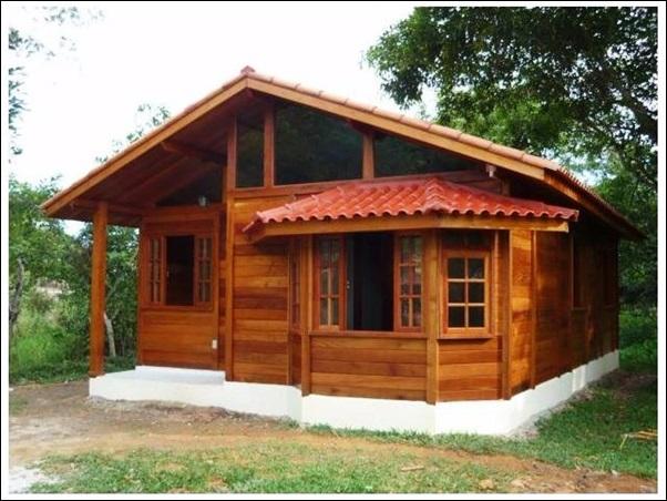 casa de madeira tipo chale