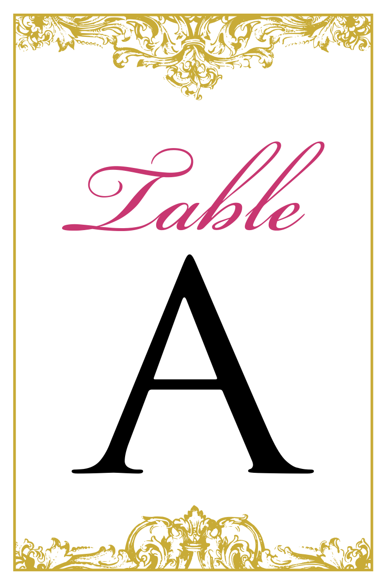 4x6 table tent template - the gallery for reserved table signs