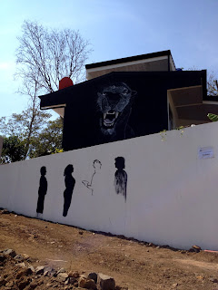 Black Panther Mural on House in Puriscal