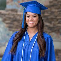 Peredo in graduation attire