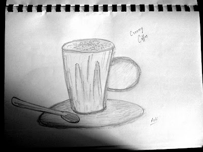 A cup of coffee sketch