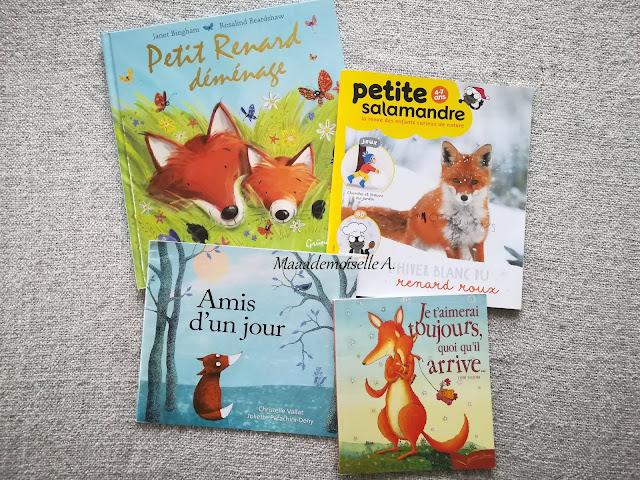    Sélection de livres sur les renards - Petit Renard déménage - Magazine Petite Salamandre - Amis d'un jour - Je t'aimerai toujours, quoi qu'il arrive