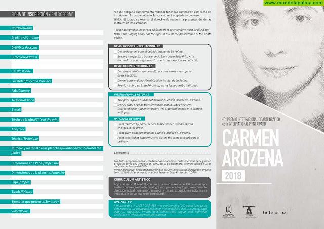 Bases Premio Carmen Arozena 2018