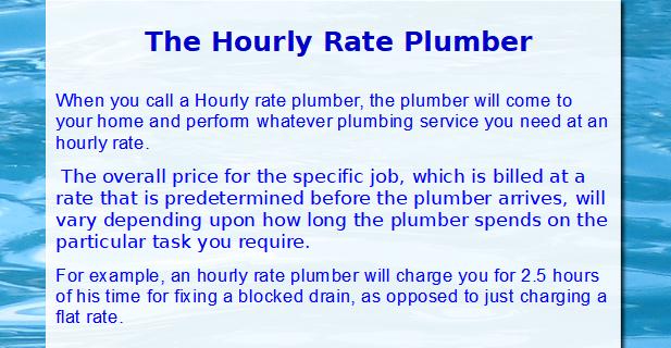 Plumbers rates,