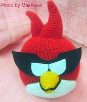 PATRON ANGRY BIRD ROJO SPACE AMIGURUMI 2209