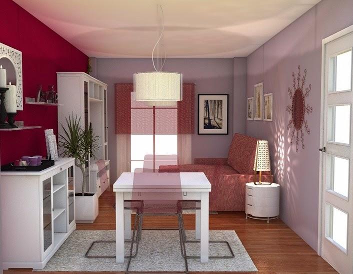 Arantxa amor decoraci n un sal n comedor peque o y acogedor - Como decorar un salon comedor pequeno ...