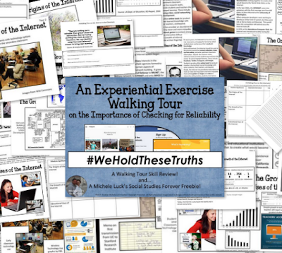 Experiential Exercise Walking Tour of Checking for Reliability #weholdthesetruths