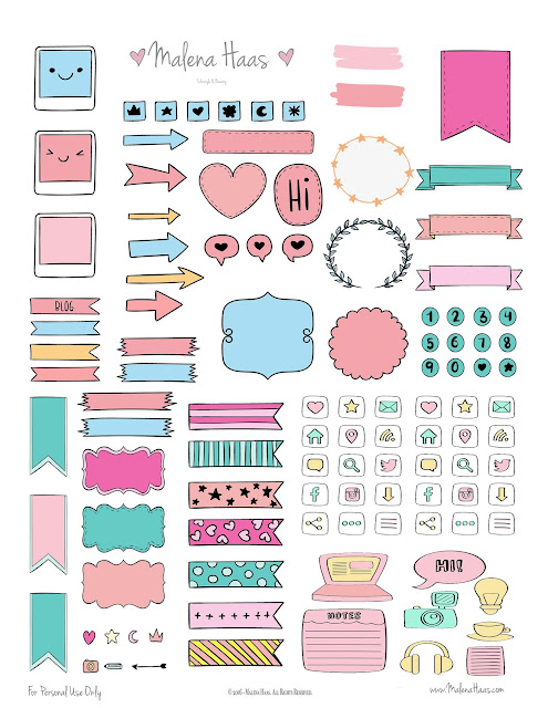 image about Free Printable Functional Planner Stickers known as Malena Haas: ❤FREEBIE Friday❤ Useful Planner Stickers
