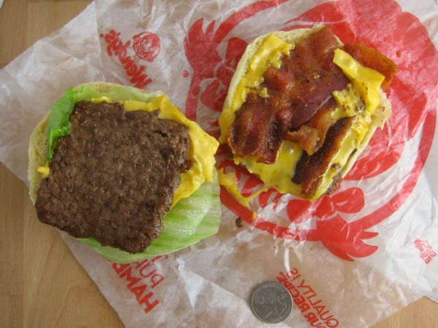 Review Wendy S Giant Jr Bacon Cheeseburger Brand Eating