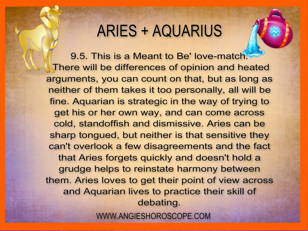 Aries Man and Aquarius Woman