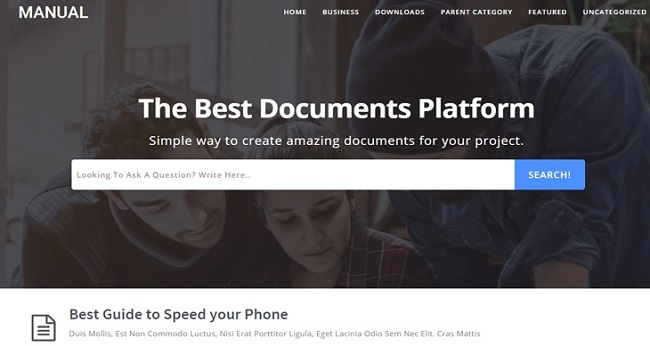 Manual Online Docs FAQs Responsive Blogger Template