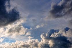 Wolkenhimmel (ArtWork, Ölgemälde, Intense Oil 1, Breite 0600 Pixel bearbeitet)