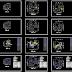 مجموعة تقسيمات منزلية جميلة اوتوكاد dwg