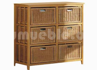 mueble cajonera hecho en madera maciza j679