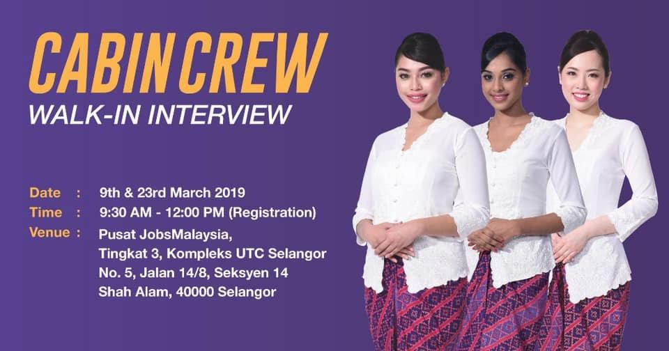 Fly Gosh Malindo Air Cabin Crew Recruitment  Walk in Interview
