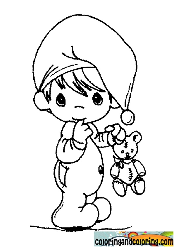 precious moment baby coloring pages - photo #6