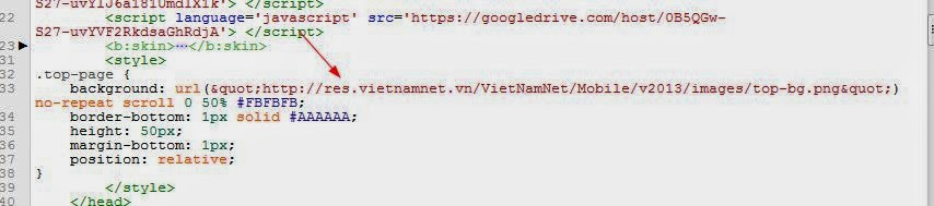 Share theme mobile vietnamnet cho blogspot