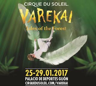 Poster Circo del Sol Varekai en Gijón
