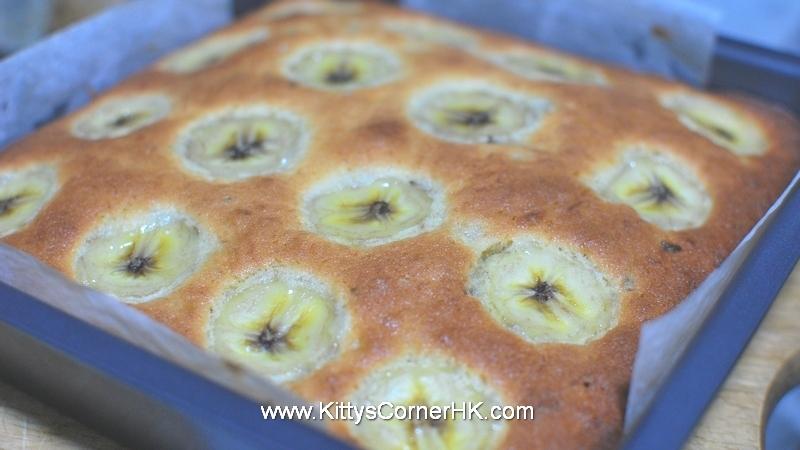 Banana Cake with Banana Topping 香蕉蛋糕 自家烘焙 食譜 home baking recipes
