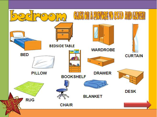 Cosas de la casa rooms household and fornitures for 10 objetos del salon de clases en ingles