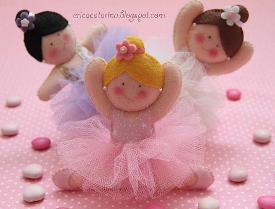 Шаблоны балеринок - толстушек из фетра (4)