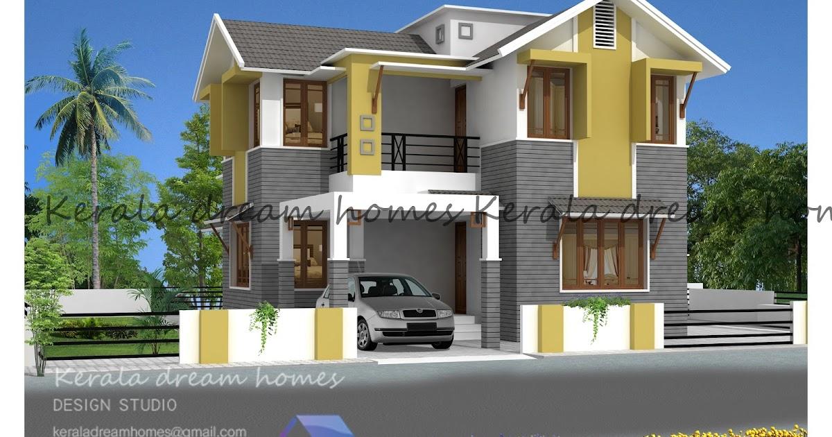 Attractive 4 Bhk Modern Villa 2042 Sqft Kerala Dream Homes