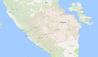 Peta Wilayah Provinsi Sumatera Selatan