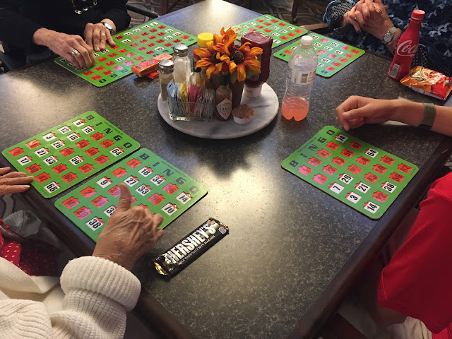 service project idea - bingo with the residents of an assisted living facility