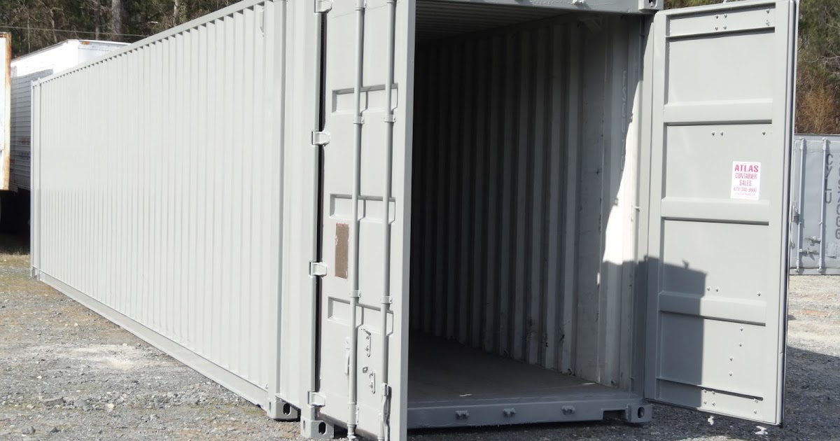 Atlanta Used Shipping Containers And Semi Trailers Painting A Used Shipping Container A How To