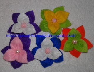 Cara Membuat Bros Bunga Cantik dari Kain Flanel