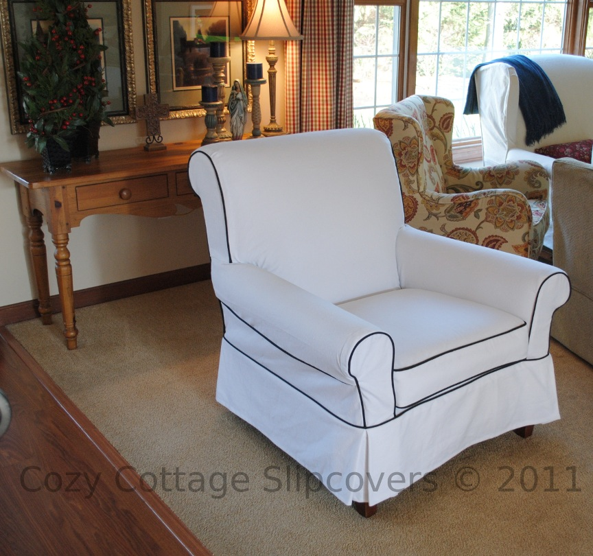 Cozy Cottage Slipcovers A Chair And A Loveseat