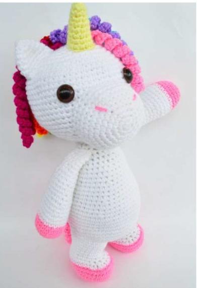 Lapicero Unicornio Amigurumi Muñec 8cm Tejido Mano Crochet ... | 570x391