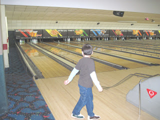 eight-year-old Blaze bowling