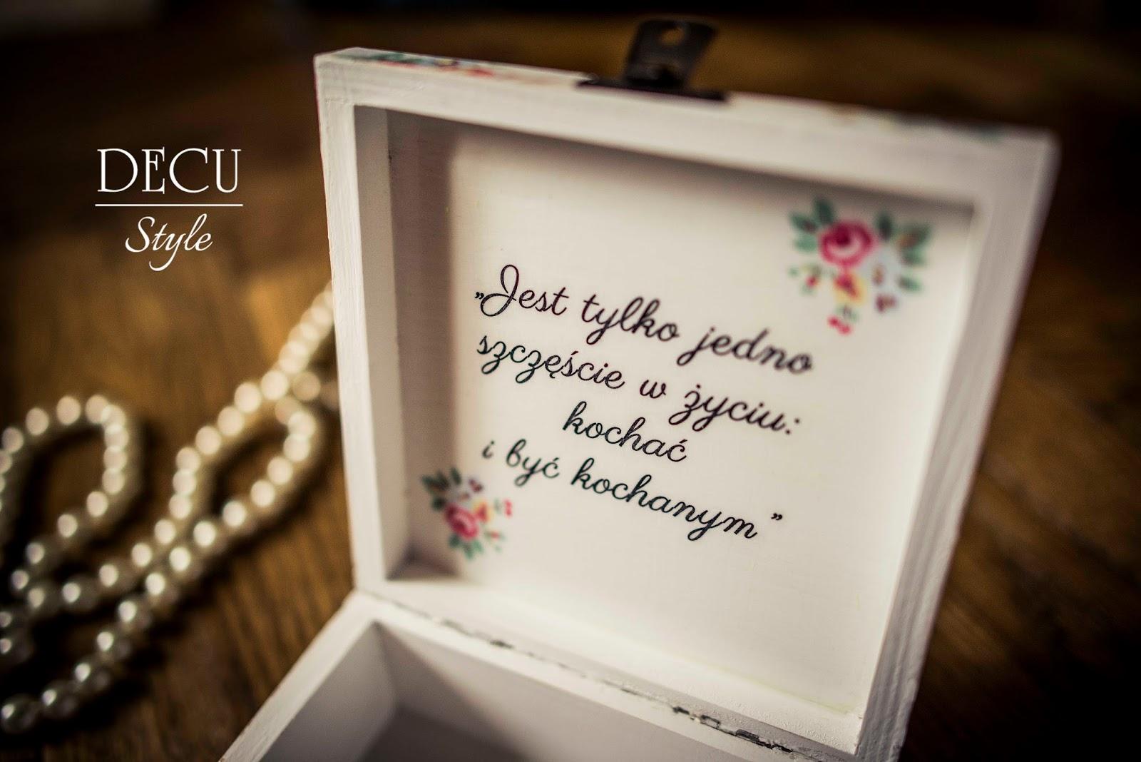 Decu Style Decoupage Blog Romantyczny ślub