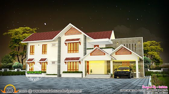 Modern style sloping roof home