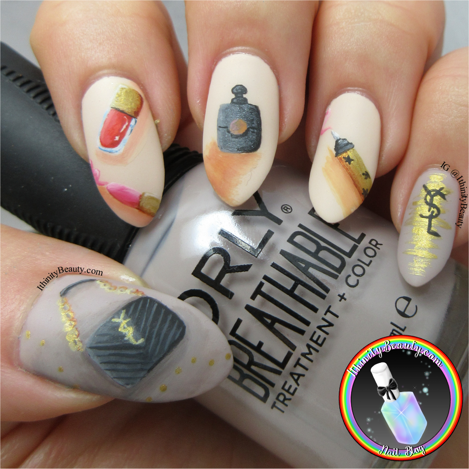 Yves Saint Laurent Freehand Nail Art Design | IthinityBeauty.com ...