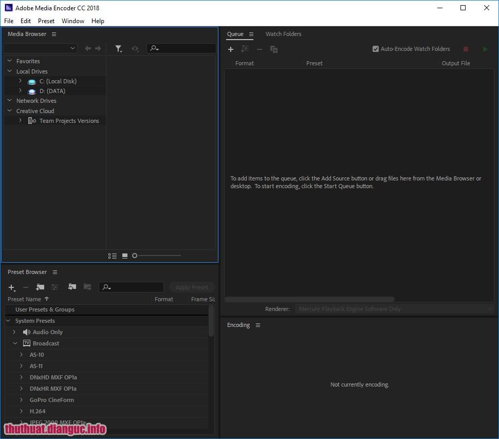 Download Adobe Media Encoder CC 2018 full free