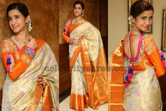 Namrata Sharma Uppada Tissue Saree
