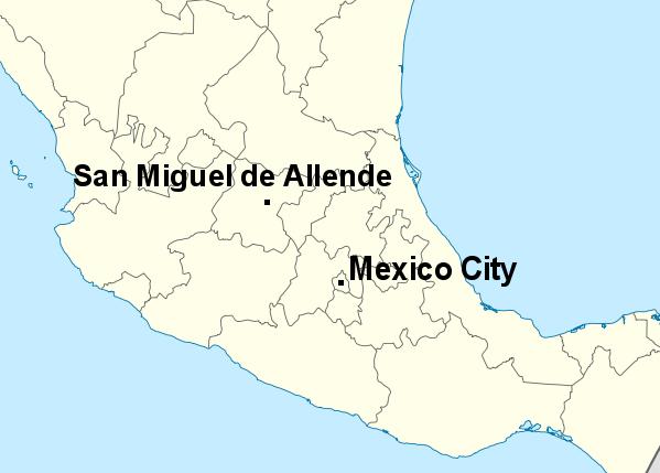 san miguel de allende guanajuato mexico map Travels Of A Retired Teacher San Miguel De Allende