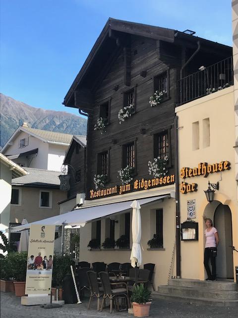 スイスのブリークの町にあるバー