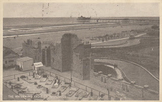 The Waterways and Pier, Skegness. The Graphic Series postcard. Postally used on 14 August 1946