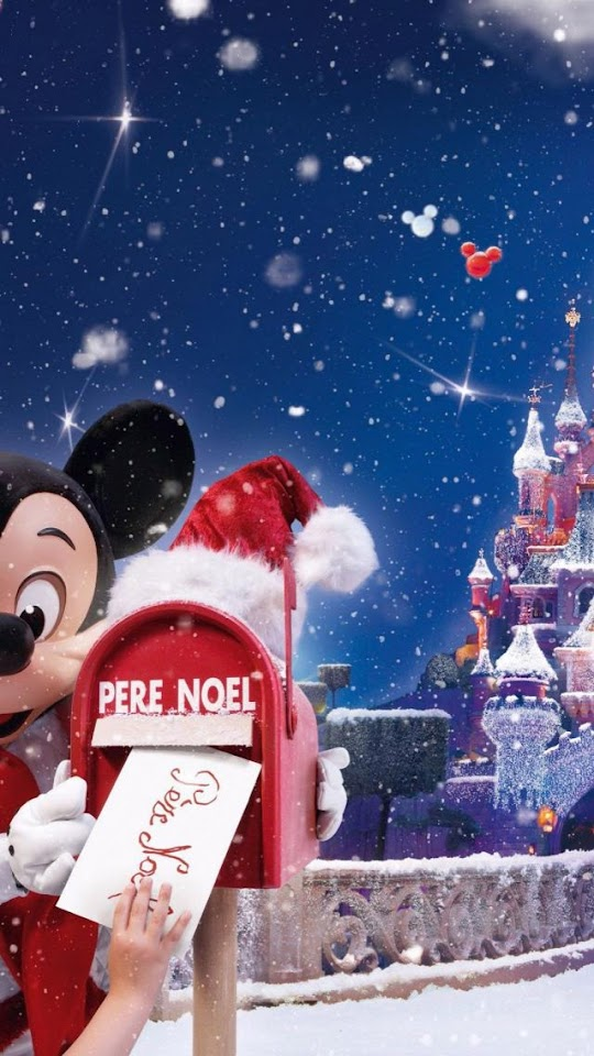 Mickey Mouse Disney Christmas  Galaxy Note HD Wallpaper